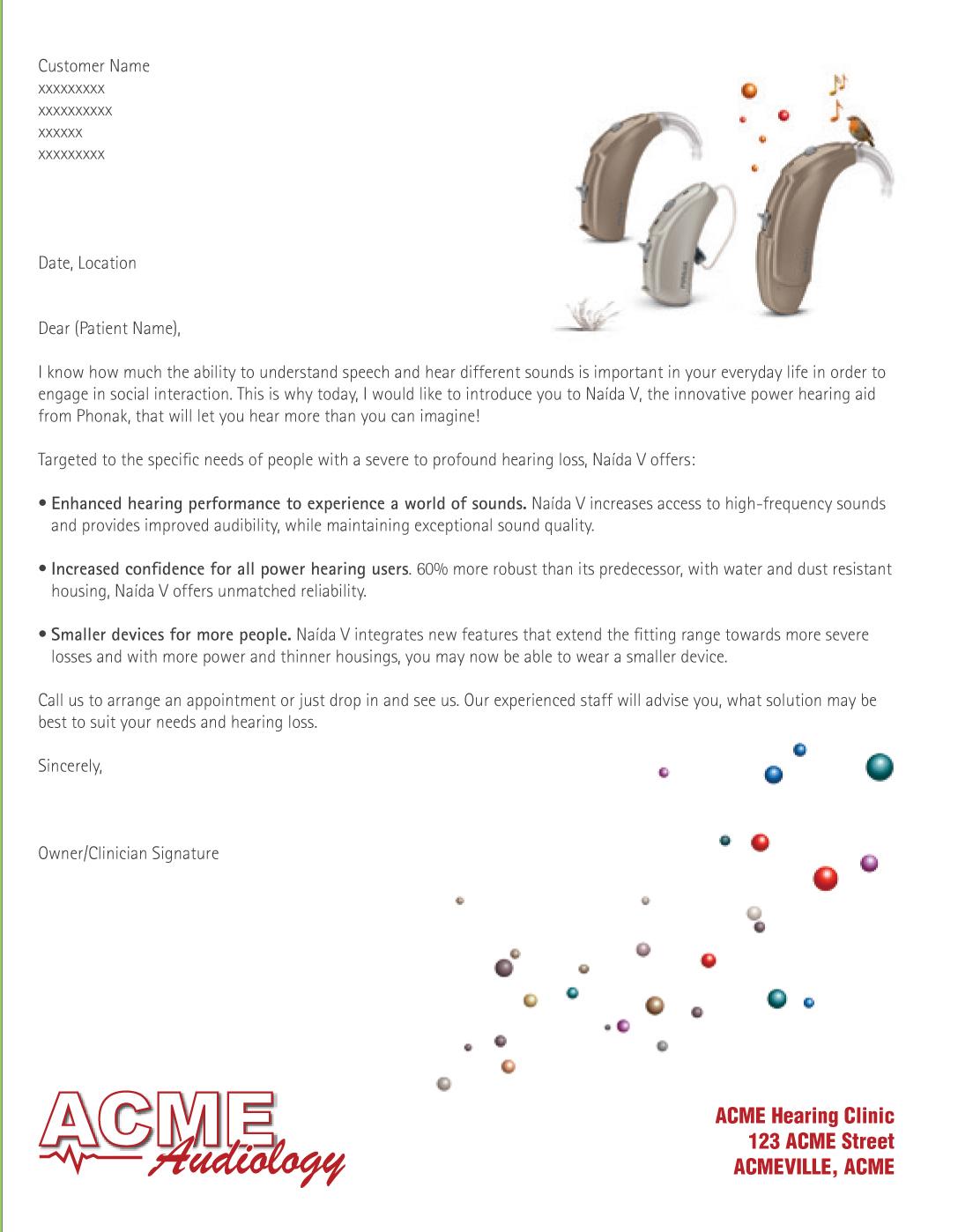 Million Ears Patient Letter